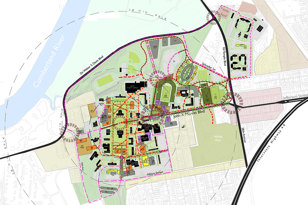 Tennessee State University's two campus Master Plan supports a 50-percent growth rate.